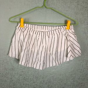 3 for $20/Sage the Label Pinstripe Ruffle Tube Top